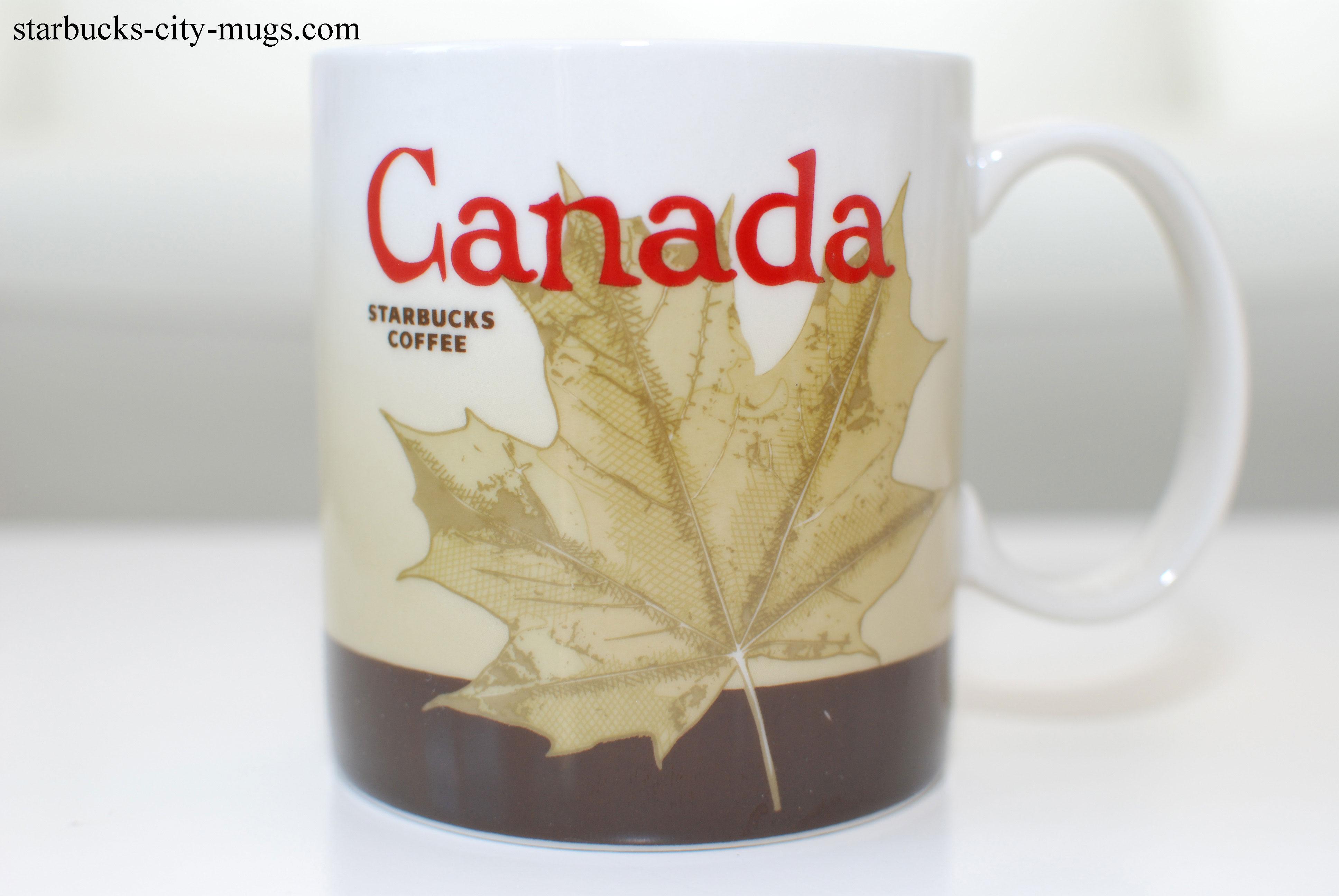 Canada starbucks city mugs