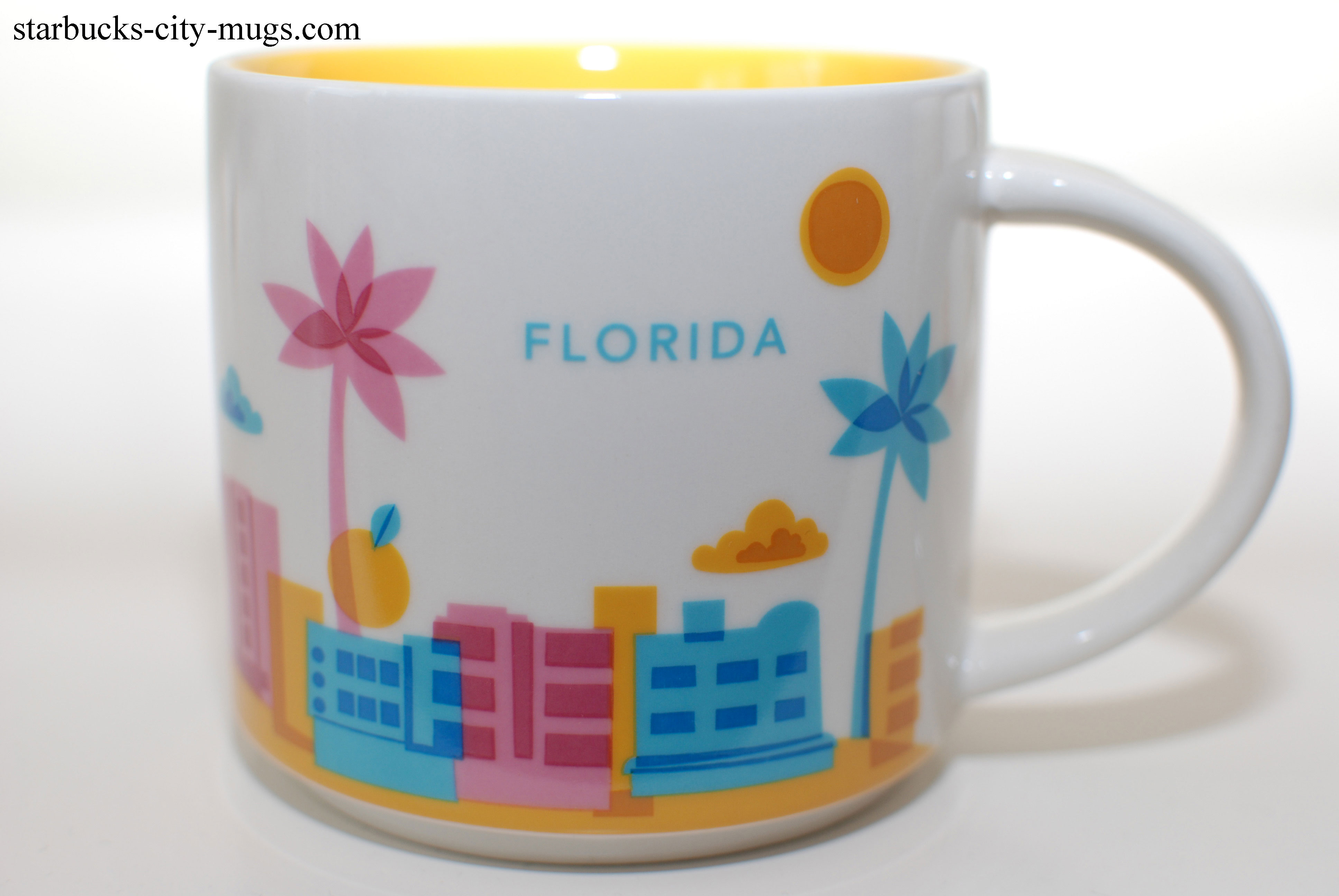 This item Starbucks Miami Coffee Mug. Starbucks Miami You Are Here Collection Ceramic Coffee Mug, 14 FL Oz. Miami Mug - Yellow Hand Painted, Florida Coffee Mugs, Miami Souvenirs, Florida Souvenirs, Florida Souvenir. Starbucks MIAMI Been There Series Across The Globe Collection Ceramic Coffee Mug.