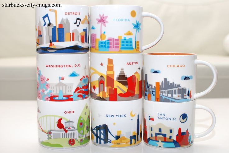 Starbucks City Mugs Welcome All Starbucks City Mugs