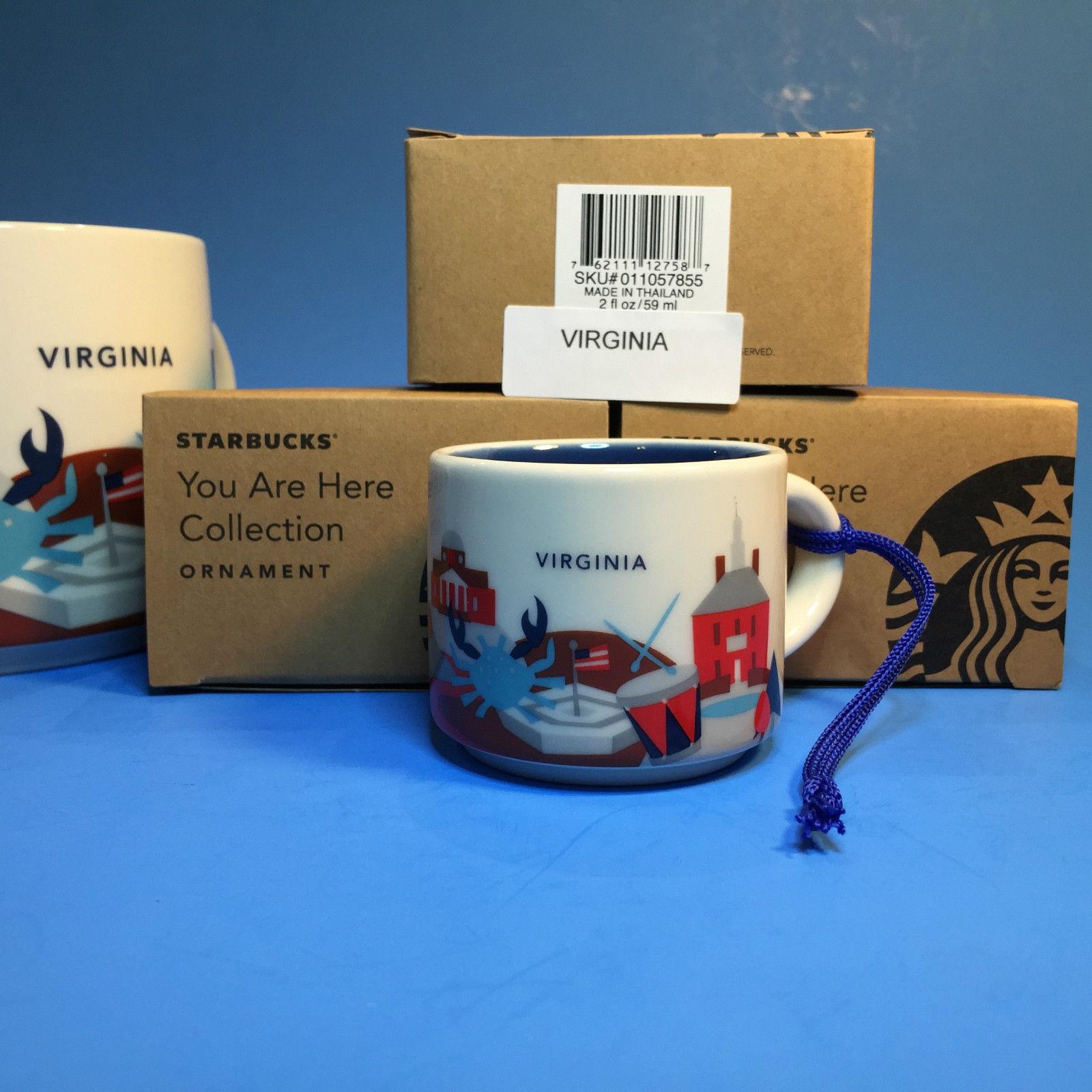 Starbucks You Are Here Mug Collection Demi Ornament Washington